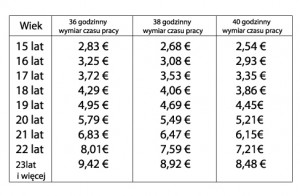 Tab.2 Stawki godzinowe, które mogą być uznawane jako wytyczne (od 01.01.2013r.)