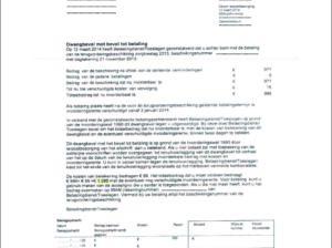 Fot.1 Przykład pisma wysyłanego do osób, które nie spłaciły długów w związku z dodatkiem Zorgtoeslag.